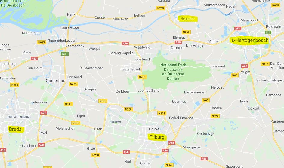 Vaarroute door Brabant